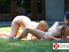 Aşık Lezbiyen şaşırtıcı Avrupa kızlar - yuvarlak 2