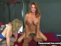 Olgun MILFS Deauxma & Nina Hartley His Big Black Cock!