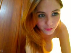 Amy busty angelic redhead babe flashing boobs and pussy