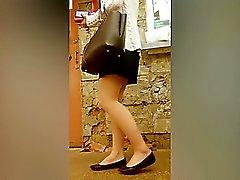 Sexy streetwalkers jotka stalked tirkistelijä kanssa SPYC