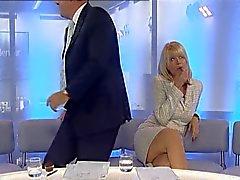 Christine Talbot osoittaa pois hänen jalat