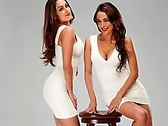 Bella twins jerk off challenge.