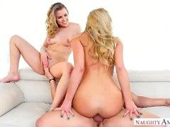 Aubrey Sinclair, Khloe Kapri Essayer Threesome Fun