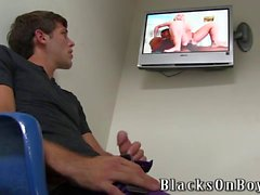 Aiden Summers Playing With Black Cocks