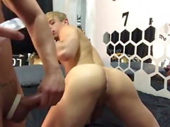 blond taking hot dick