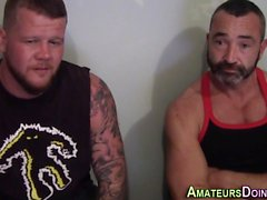 Amateur muscly bear grope