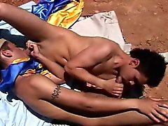 Bareback latinos suck and fuck outdoors