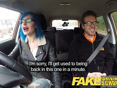 Fake Driving School Instructor cums on pussy after anal