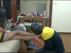 cuckhold chinois esclave de pied