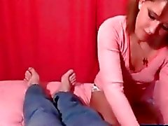 Step sister giving me a handjob