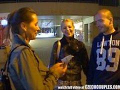 Belle paire tchèque Gets Money for GF change
