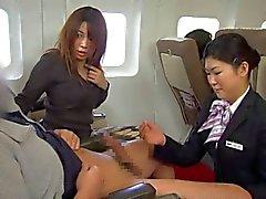 Japanese stewardess handjob uncensored