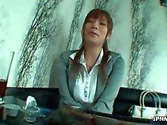 sensual Asian Mulheres maduras do trabalhador de escritório