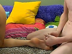 Young twink giving anal session to kinky brunette teen
