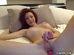 Sexy Big Tit Readhead MILF on Webcam
