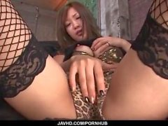 Asombrosas escenas porno en solitario a lo largo de excelente Aika