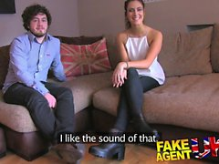 FakeAgentUK Swinging fit couple try threesome