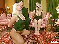 Curvy slaves Sara Jay and Kait Snow