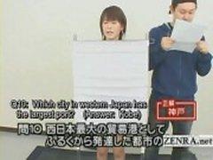 Legendado Japão quiz show com um concorrente nu