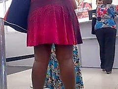 Negan alkaen vestido e calcinha socada na Fila tee Banco