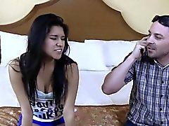Small latina gets pounded
