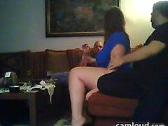 Webcam partido del MILF mamada