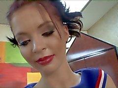 Jessi Palmer cheerleaderin handjob