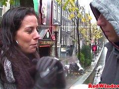 Verklig nederländska hora doggystyled in Trios
