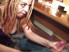 Carino bambina con Dreadlocks Sucks & Fucks