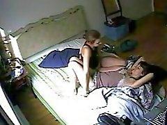 De cámara escondida Lesbians