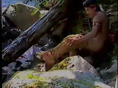 Retrò - montagna della cascata avventura fotografie