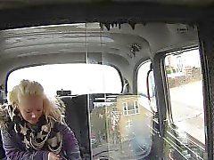 Blonde bbw Pony in Taxi in Wald