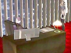 Rubia 3D muestran tetas cutie de hentai