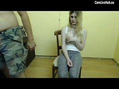 sesso grezzo per teen bionda sulla webcam