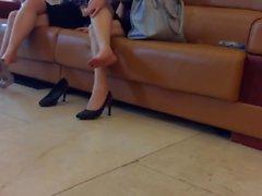 Candid Asian Shoeplay 4 Nov 2016