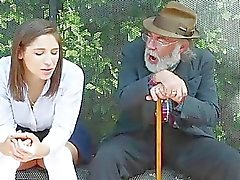 Abella Danger at bus stop fucked by dude