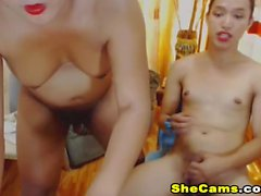 Hottest Shemale Duo Pleasures Ass and Cock