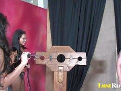 Hot dominative duo Asa Akira and Jessica Bangkok
