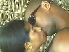 Island Girl Ebony Babe Gets The