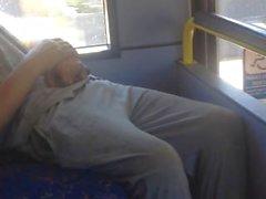 Str8 weißer Trash boner Umriss auf Bus