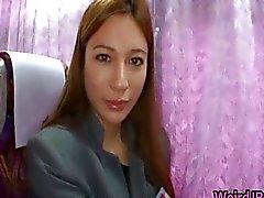 Gek Aziatische meisjes hebben hete bustocht