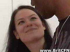 Dört adet kötü bir British kız kara amatörüm soyun