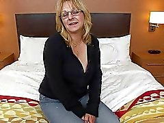 Nascar loving Granny tries porn for the first time