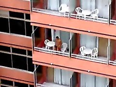 Balcon del hôtel une