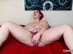 Orniest Amateur Mature Redhead swallows cum on Webcam