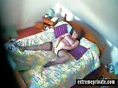 Di spionaggio vid la mia mamma con dito con camera da letto