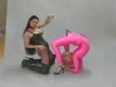 Fetiche de lésbico flexibilidad