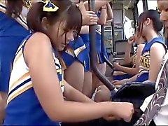 censored Aasian cheerleeder assjob on pikkuhousunsuojat
