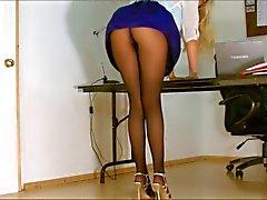Kantoor meisje panty upskirt
