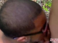 Hot partners love to fuck each other hard while in the woods